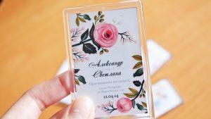 Акриловые магниты приглашения на свадьбу в Рязани