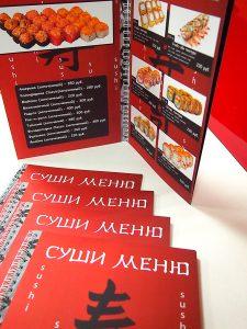 Напечатать меню для кафе в Рязани можно у нас.