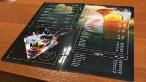 Ламинированные меню для пабов