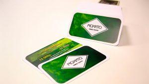 Изготовление визиток для бара в Рязани.