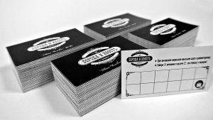 Печать черно-белых визиток недорого в Рязани