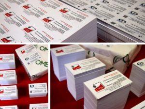 Цифровая и офсетная печать визиток и ламинирование в Рязани