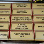 Изготовление информационных табличек в Рязани